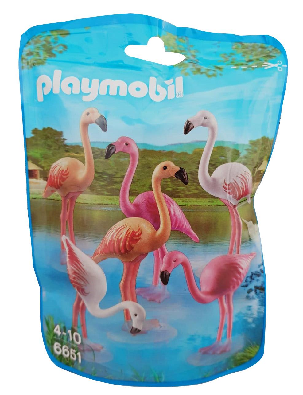 Playmobil 6651 Flamingos Familie 6 Stück Rosa Rot Weiss sehr Schöner Flamingoschwarm