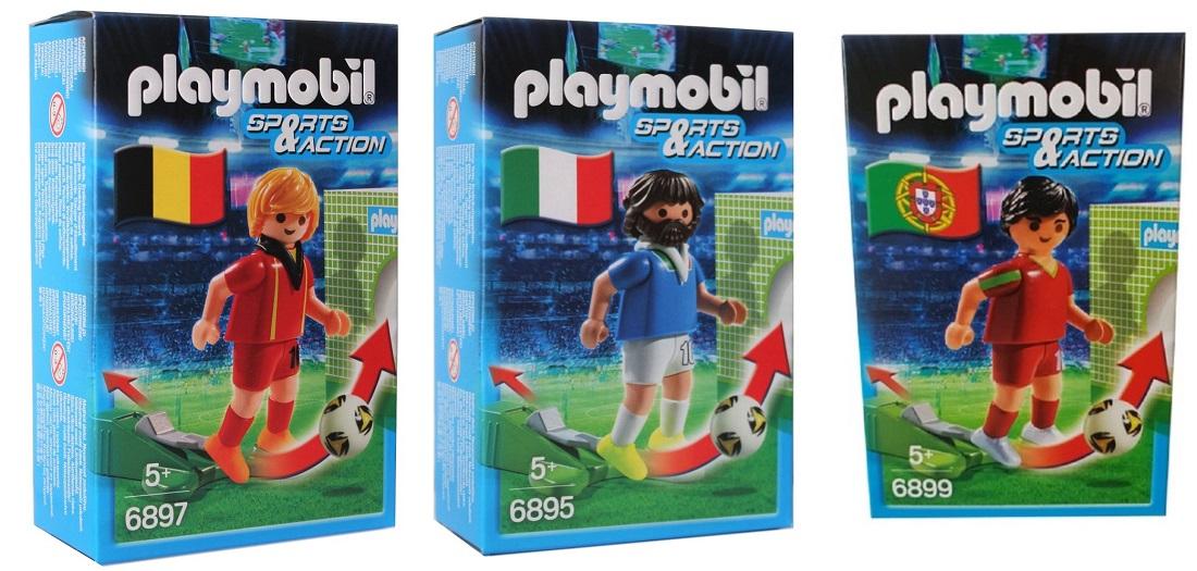 Playmobil Sports & Action Fußballspieler Figur mit Kickfunktion versch. Nation