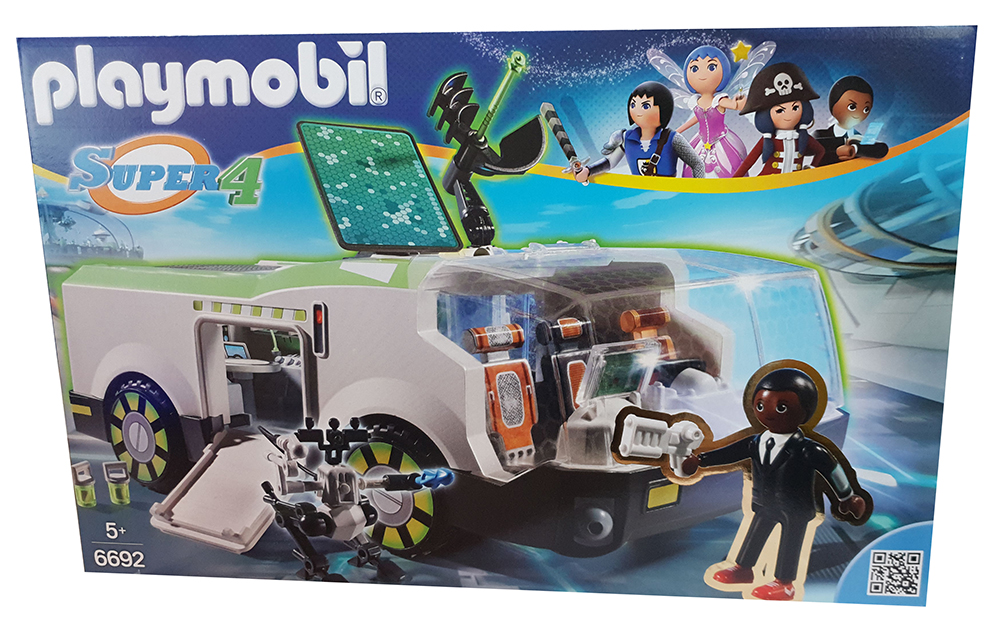 Playmobil Techno Chamäleon mit Agent Gene Super 4 6692