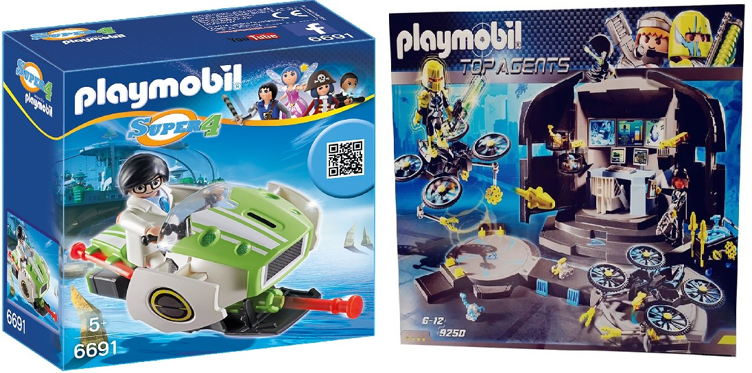 Playmobil 6691 9250 Actionfiguren Skyjet und Doktor Drones Kommandozentrale Geschenk-Set