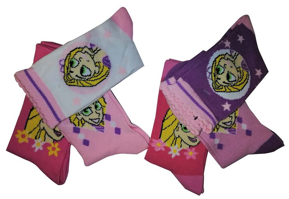 Disney Rapunzel die Serie 6er Pack Mädchen Kinder Socken mit Sternchen versch. Größen (Auswahl)