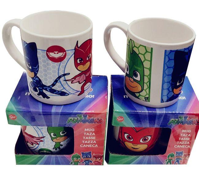 Pj Masks Keramik-Tassen 2er Pack mit Catboy, Gekko & Eulette für Kinder