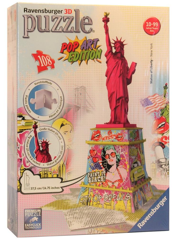 Ravensburger 3D Puzzle Freiheitsstatue Pop Art Edition 108 Teile