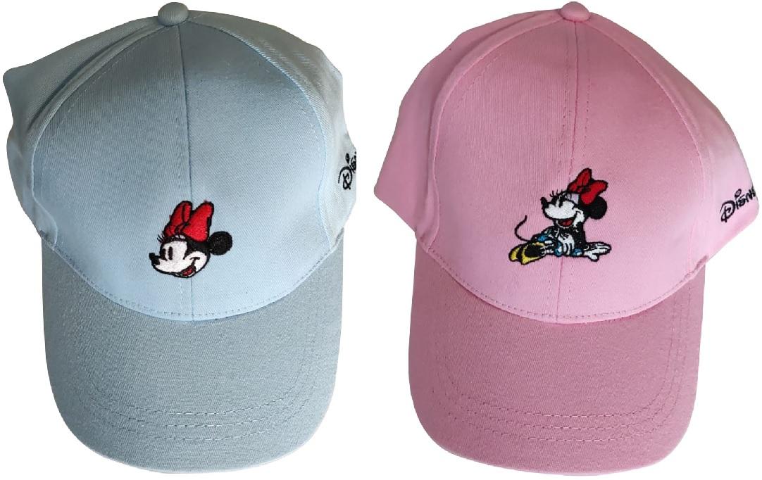 Disney Minnie Maus Kappe Mütze Blau o. Rosa für Kinder, Jungen und Mädchen 100% Baumwolle (Auswahl)