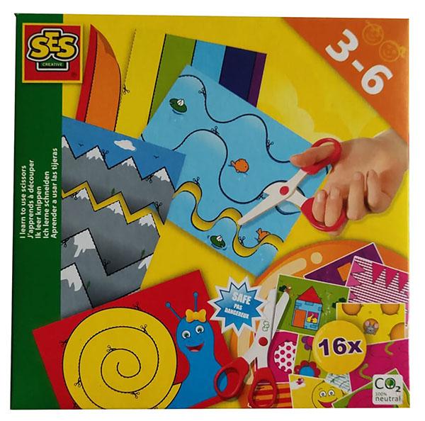 """SES 14809 Creative Bastelset """"Ich lerne Schneiden"""", 16 Teile, Für Kinder von 3 bis 6 Jahren"""