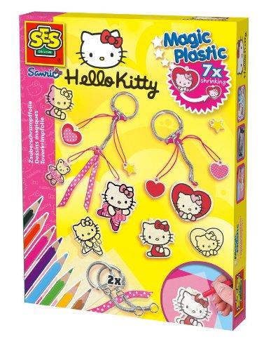 SES Creative 14691 - Zauberschrumpffolie Magic Plastic Hello Kitty Anhänger
