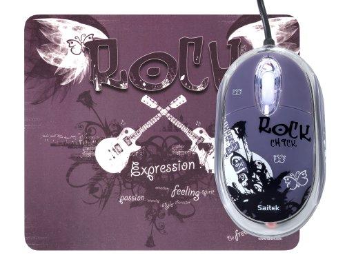 Salitek Expression Maus mit pad 800dpi, USB 2.0 Rock Chick