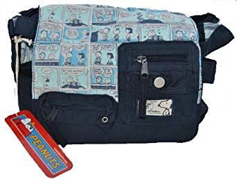 Schultertasche Snoopy 056-6604 von Peanuts blau