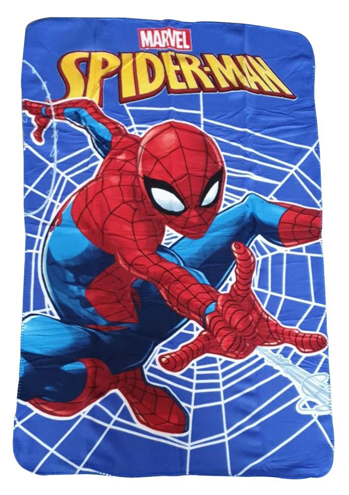 JF Fleecedecke Spiderman mit Spinnennetz 100 x 150 cm kuschelweich