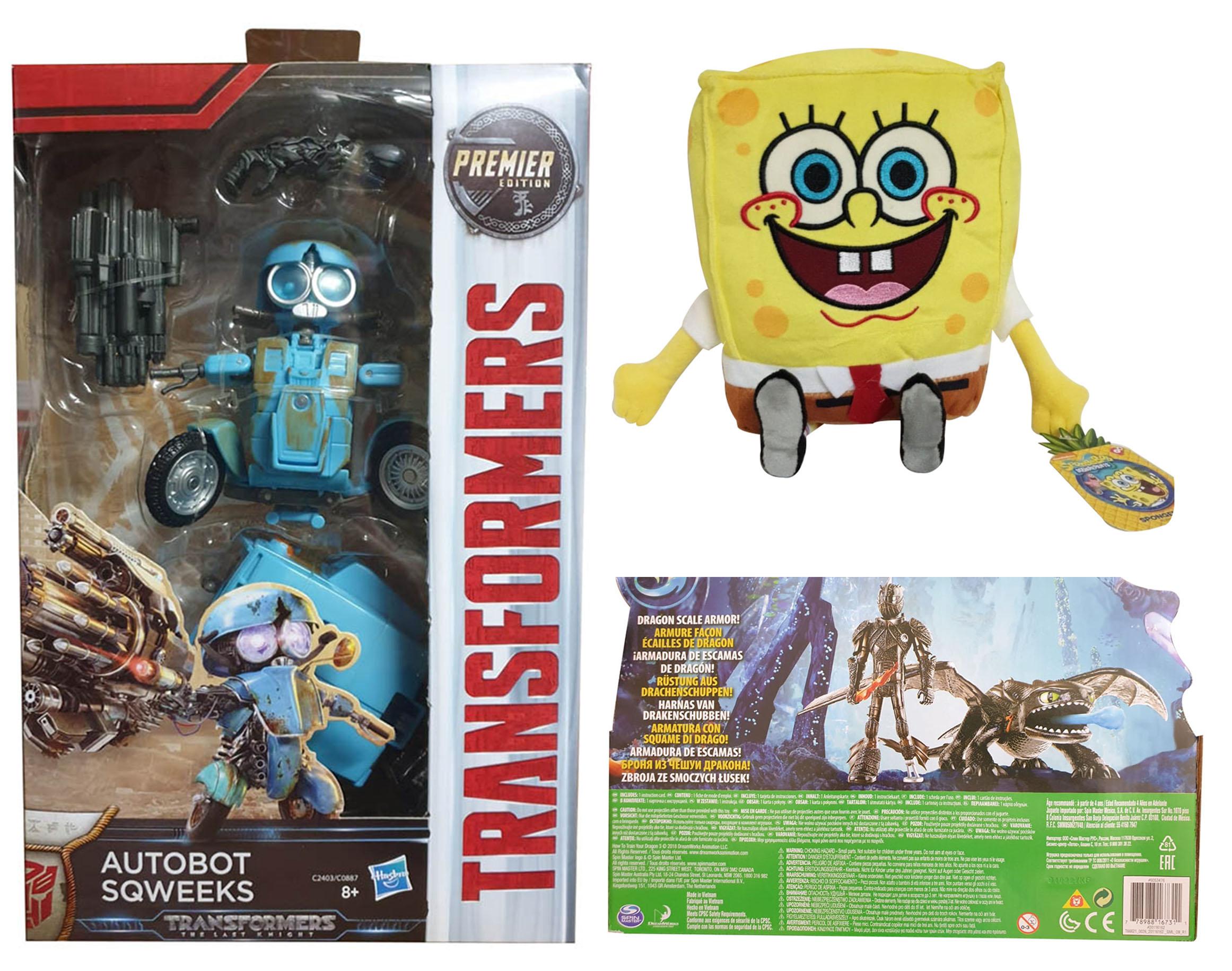 Hasbro Transformers C2403ES1 Autobot Sqweeks Spongebob Schwamkopf Ohnezahn Hicks