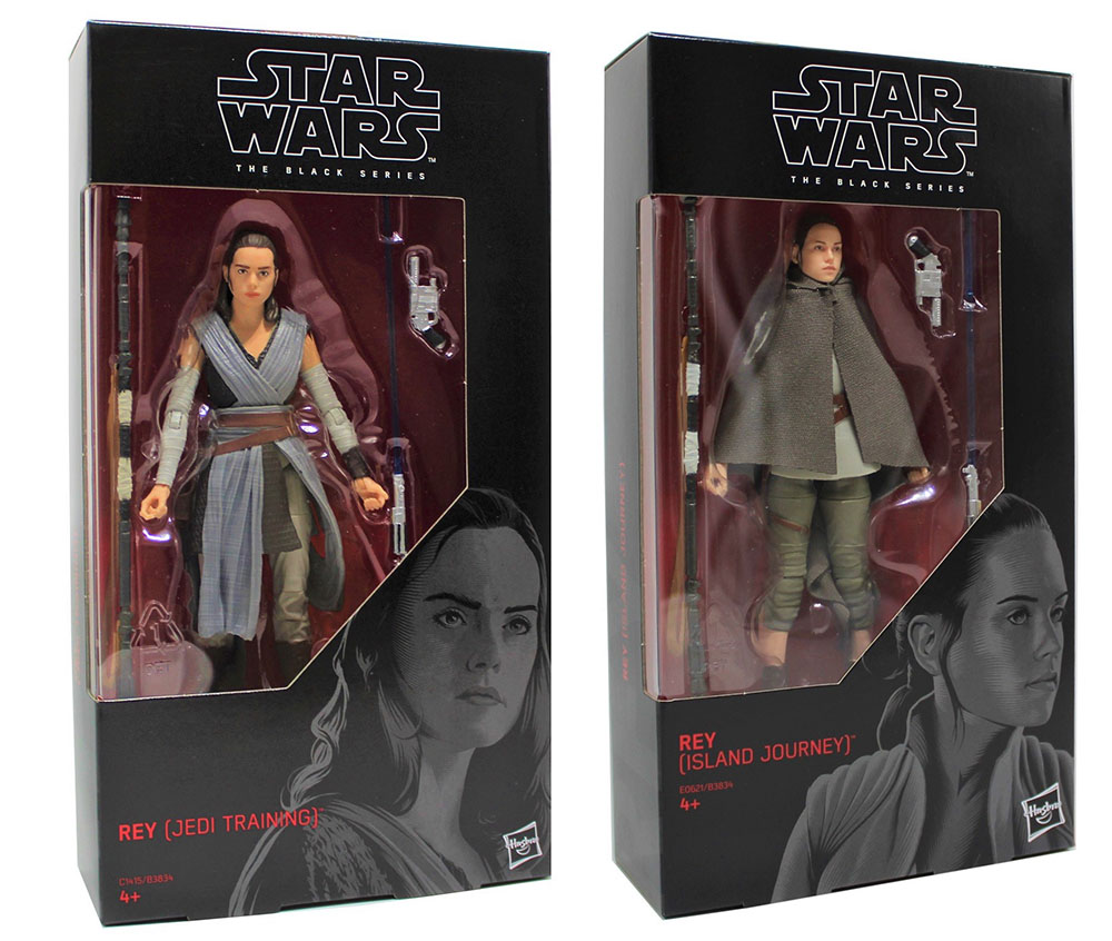 Star Wars Black Series Actionfiguren 2er Set: Rey Jedi Training + Island Journey