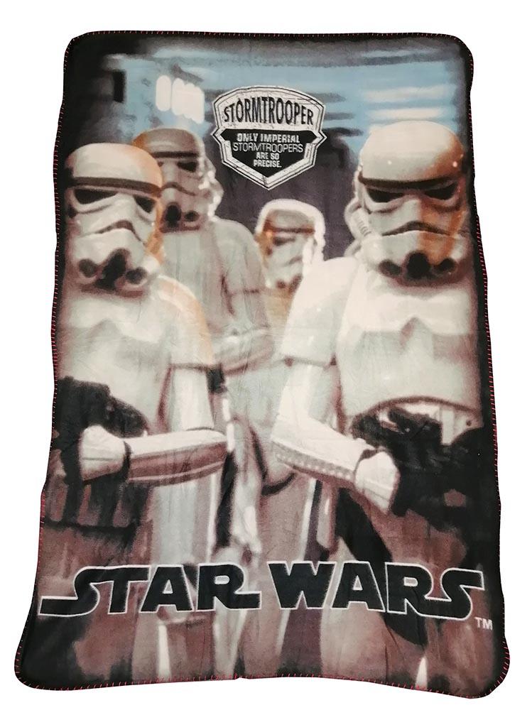 Star Wars Fleecedecke mit 4 Stormtrooper Only Imperial 100 x 150 cm kuschelweich