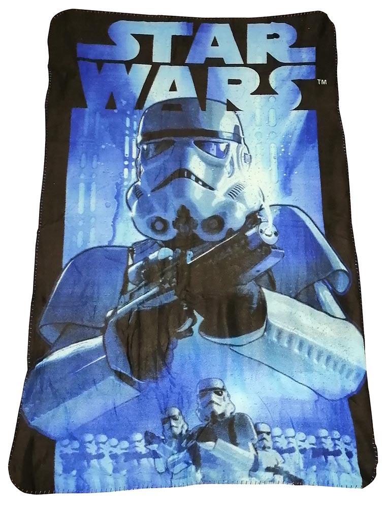 Star Wars Fleecedecke mit Stormtrooper Imperial Blau 100 x 150 cm kuschelweich
