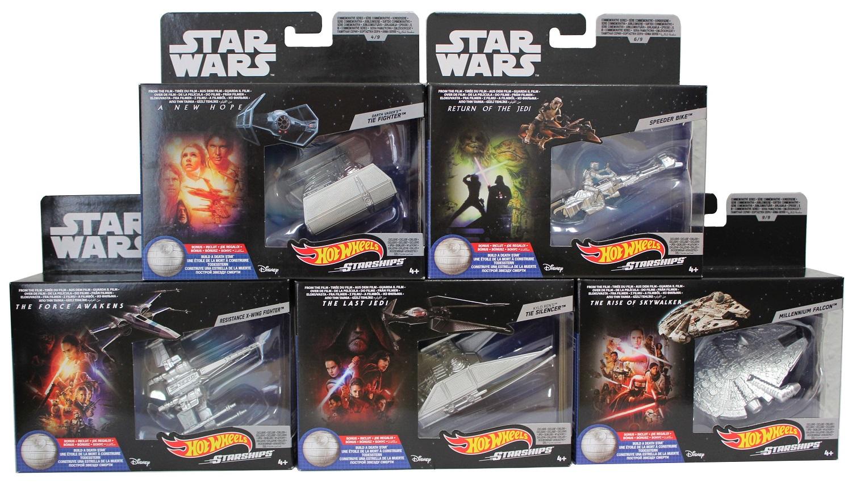 Star Wars Hot Wheels Starships Raumschiffe 5er Set B