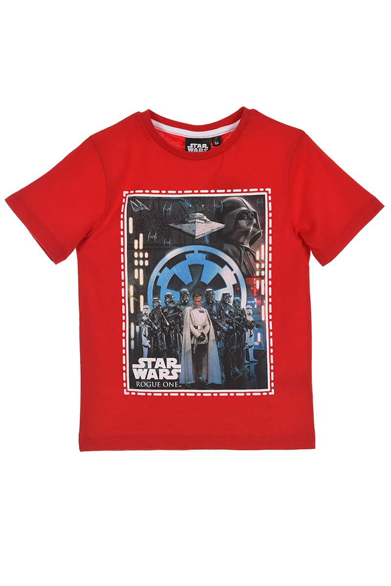 Star Wars Rogue One T-Shirt Todesstern Rot 4 Jahre Gr. 104