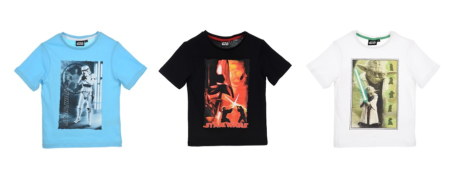 Star Wars T-Shirts 3er Set schwarz/blau/weiß Größe: 104 für Jungen (4 Jahre)