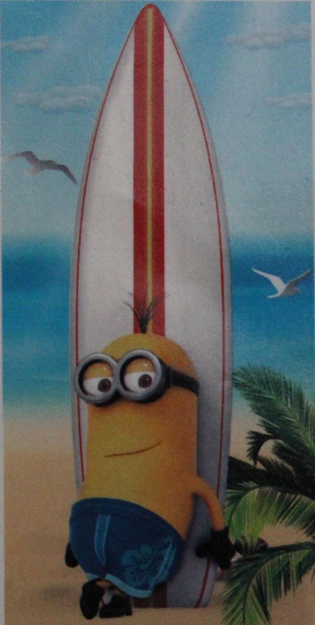 Strandtuch Minions Paradise Surfbrett