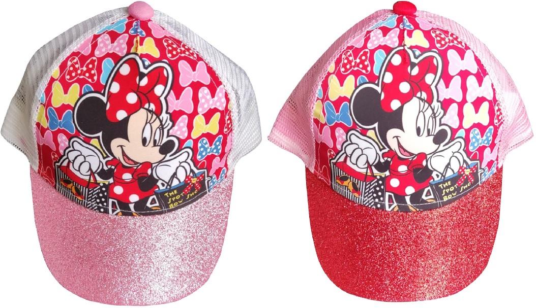 Disney Cap Cappy Kappe Schirmmütze Minnie Maus Basecap mit Glitzer-Schirm für Kinder (Auswahl)