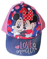 Disney Mickey & Minnie Kappe Mütze Love is in the Air für Kinder mit Glitzerschild rosa Gr. 52