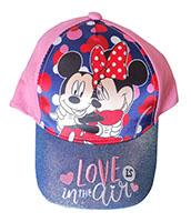 Disney Mickey & Minnie Kappe Mütze Love is in the Air für Kinder mit Glitzerschild rosa Gr. 54