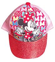 Disney Cap Kappe Basecap Schirmmütze Minnie Maus mit Glitzer-Schirm rot-pink Größe 52 cm