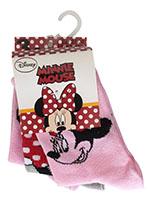 Disney Minnie Maus 3er Pack Socken Strümpfe für Kinder Rosa Grau Größe 23/26