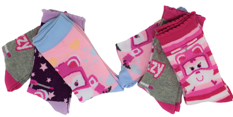 Super Wings Dizzy Socken für Mädchen 6 er Pack Größe 23/26