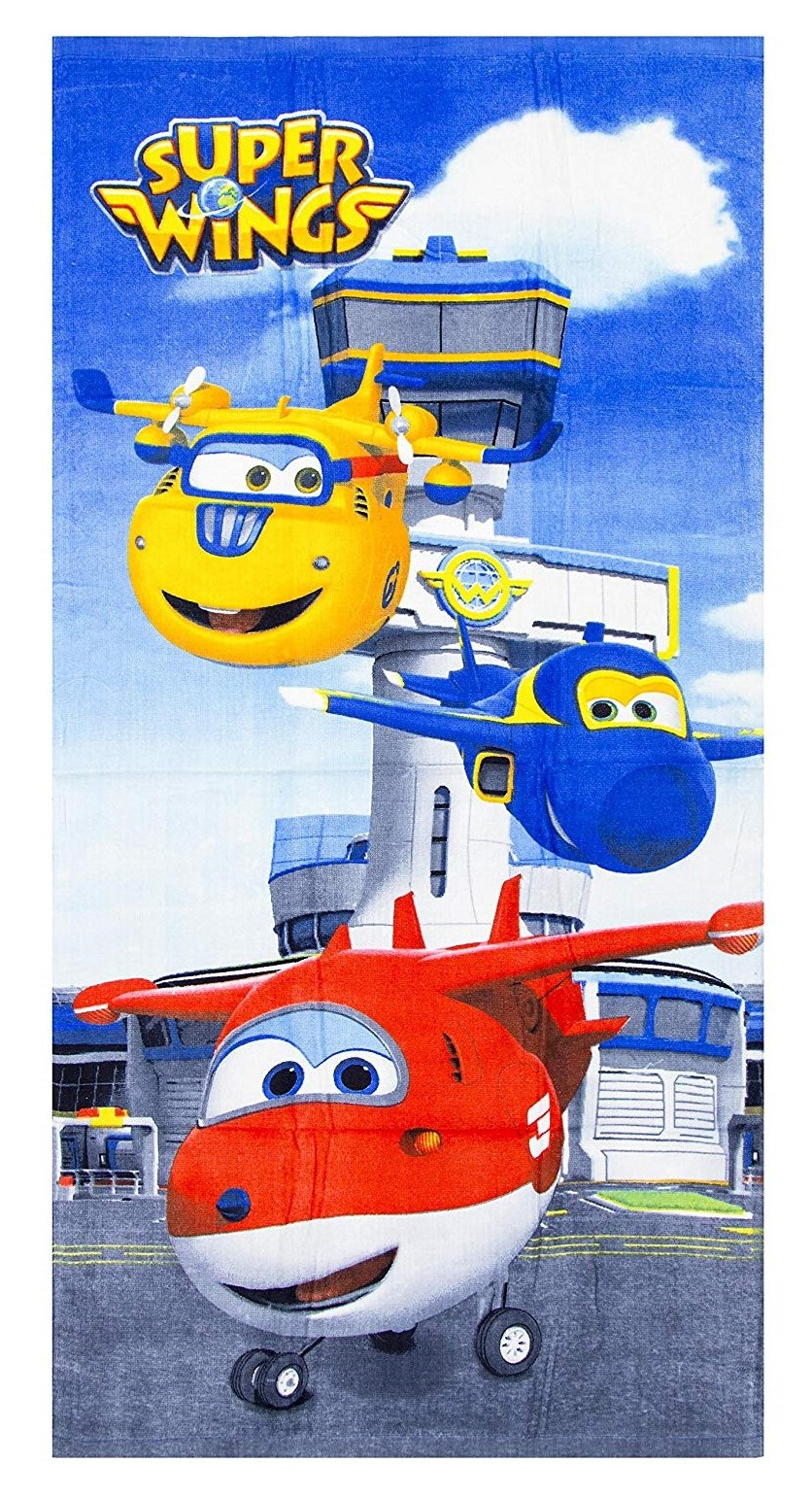 Super Wings Jett, Donnie und Jerome Handtuch 70 x 140 cm