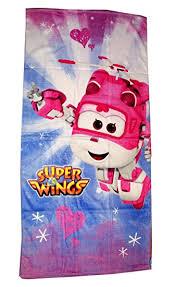 Super Wings Badetuch für Kinder Dizzy 70x140cm
