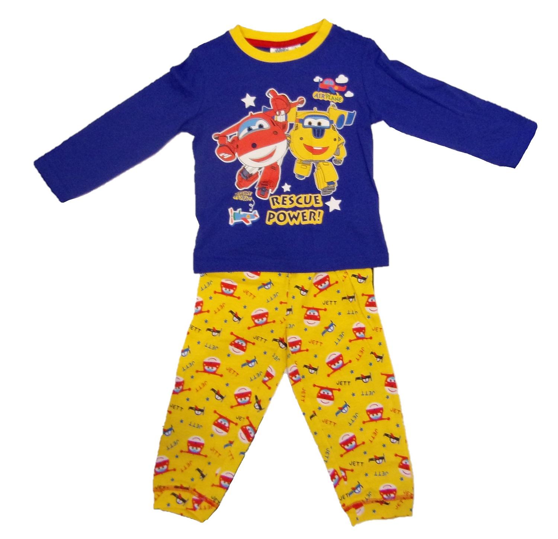 Super Wings Langarm Schlafanzug für Kinder blau versch. Größen (Auswahl)