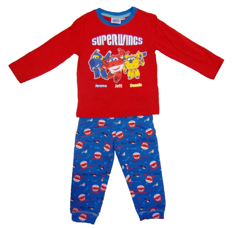 Super Wings Langarm Schlafanzug für Kinder rot Größe 104