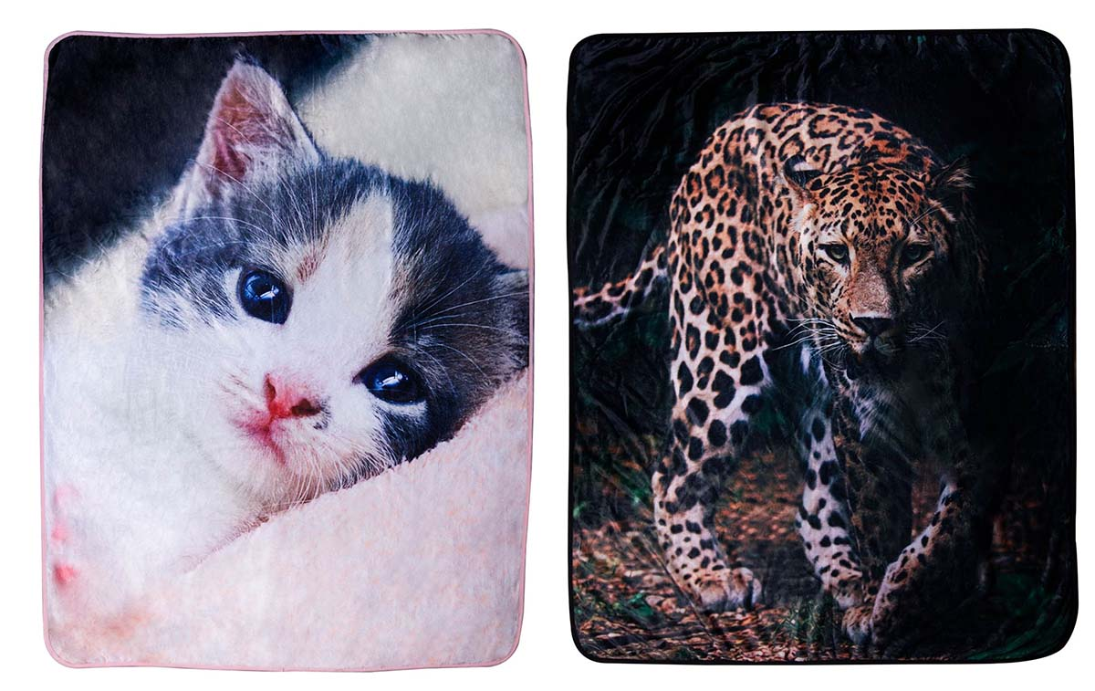 Sweet Home Decke Tier Motiv 120 x 150 cm Mikrofaser Flanell 100% Polyester (Auswahl)