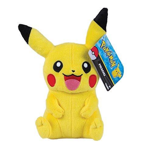 Tomy Pikachu Plüsch - hochwertiges Pokémon Stofftier 20 cm groß - zum Spielen un