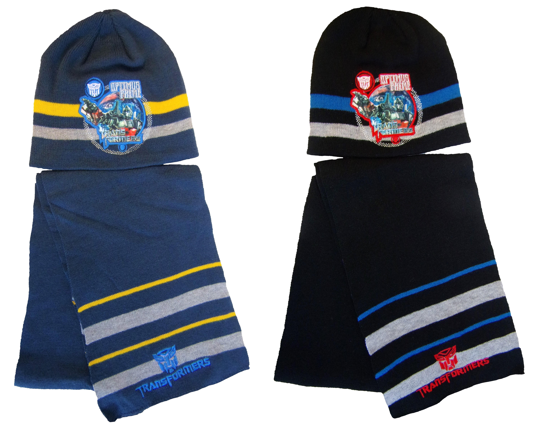 Transformers Mütze und Schal Set für Kinder verschiedene Größen (Auswahl)