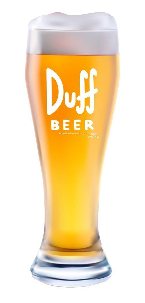 """United Labels 0118237 XXL Bierglas The Simpsons  """"Duff Beer""""  2.5 Liter"""