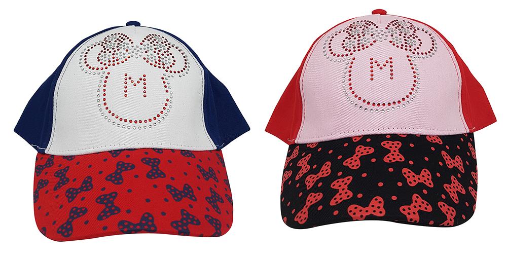 Disney Minnie Maus Kappe mit Schleifen-und Strass-Motiv für Mädchen (Auswahl)