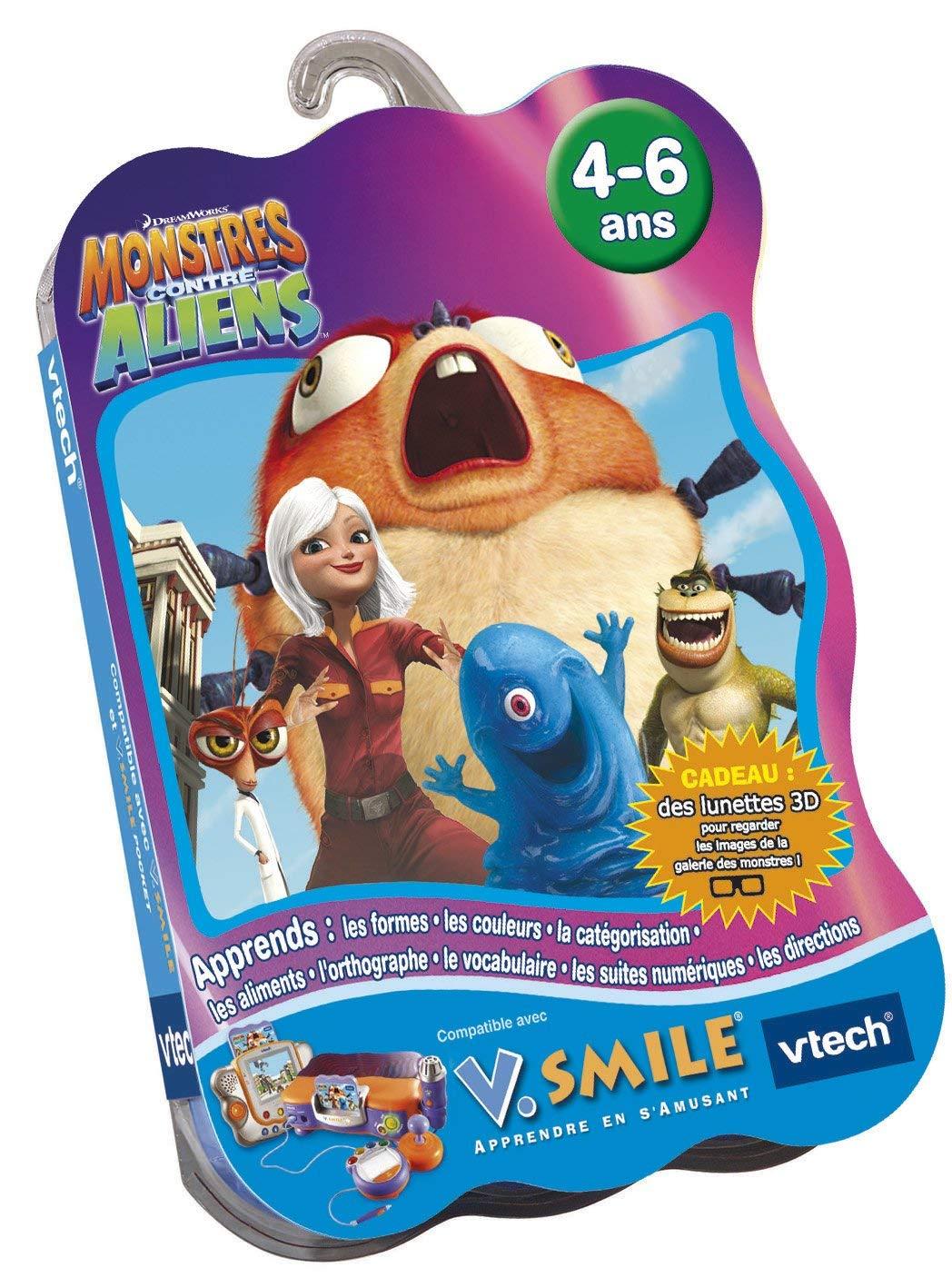 VTech - Cartouche de jeu V.Smile Monstres Contre Aliens - 90165