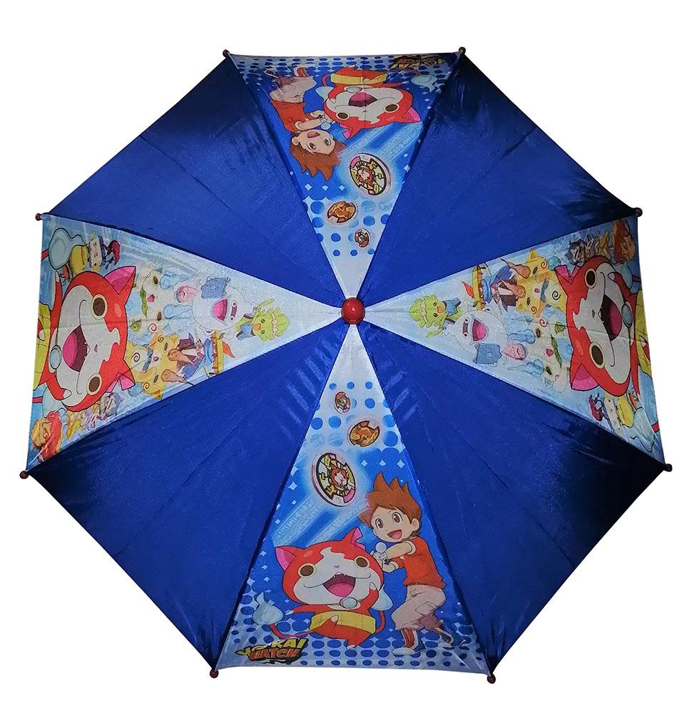 Yo-Kai Watch Jibanyan Regenschirm für Kinder blau