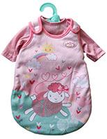 Zapf Creation 701867 Baby Annabell Little Schlafsack, Shirt, Kleiderbügel für Puppen 36-38 cm
